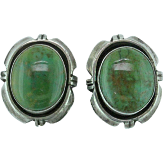 Native American Turquoise Sterling Silver Earrings