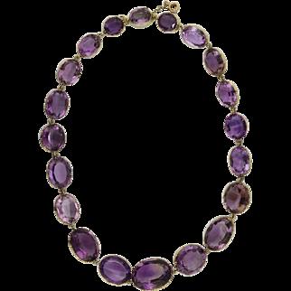 Victorian Amethyst Riviere Necklace