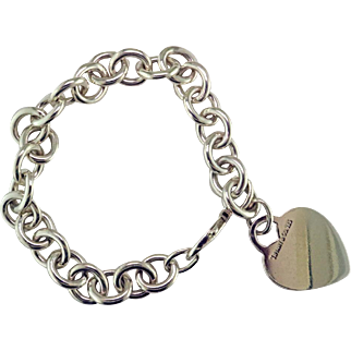 Tiffany Sterling Silver Heart Bracelet