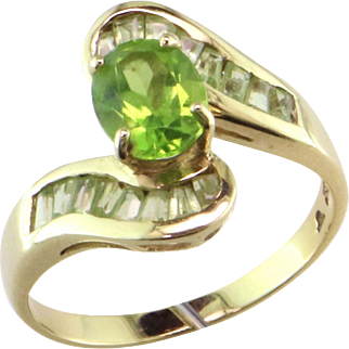 Peridot Channel Set Bypass Ring