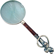 Sterling Silver Magnifying Glass for the Desktop - Aesthetic Movement Styling