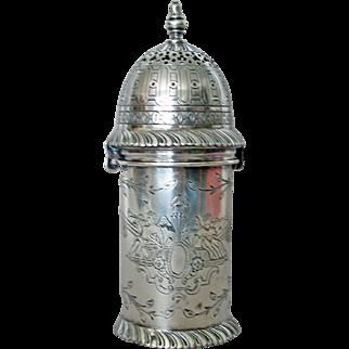 Beautiful Dutch Silver Antique Sugar Castor - Hand Engraved