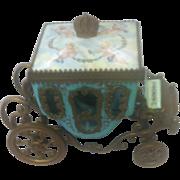 Austrian/Viennese Allover Enamel Miniature Coach