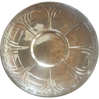 Sterling Silver Alvin Gift Line Sandwich Plate ca 1930