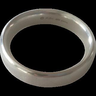 Sterling Silver Georg Jensen Bangle Bracelet, Hans Hansen Design