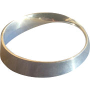 Georg Jensen Sterling Silver Bangle Bracelet #206 Mobius by Vivianna Torun