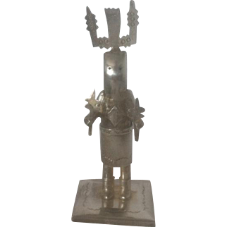 Sterling Silver Kachina Dancer Handmade by Native American Jeffery Castillo