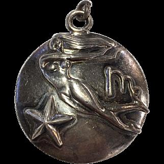Margot de Taxco Virgo, the Virgin, Zodiac Sterling Silver Pendant/Charm