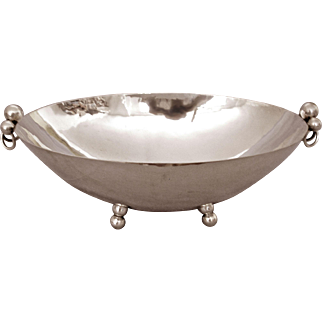 Sterling Silver Centerpiece/Fruit Bowl by Alfredo Sciarrotta, Very Large