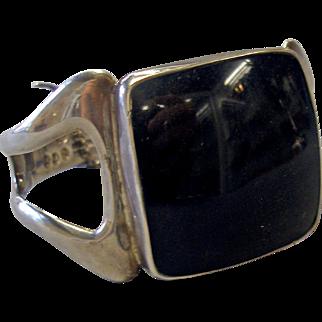 Sterling Silver Sigi Pineda Bracelet with Large Square Stone
