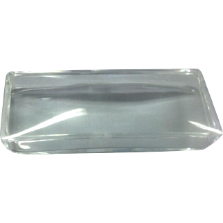 Steuben Glass Box Sleek Plain Mid-Century Modern Lines