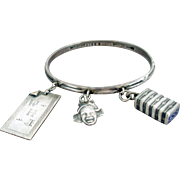Tiffany Sterling Charm Bracelet with African American Theme