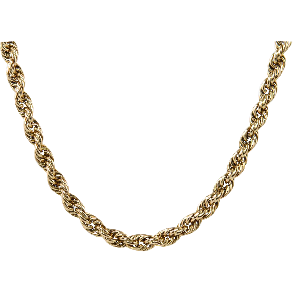 Authentic Tiffany Amp Co Vintage Rope Link Chain Necklace 65