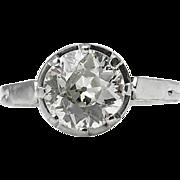 Art Deco 1.62ct Old European Diamond Solitaire Engagement Platinum Ring EGL USA