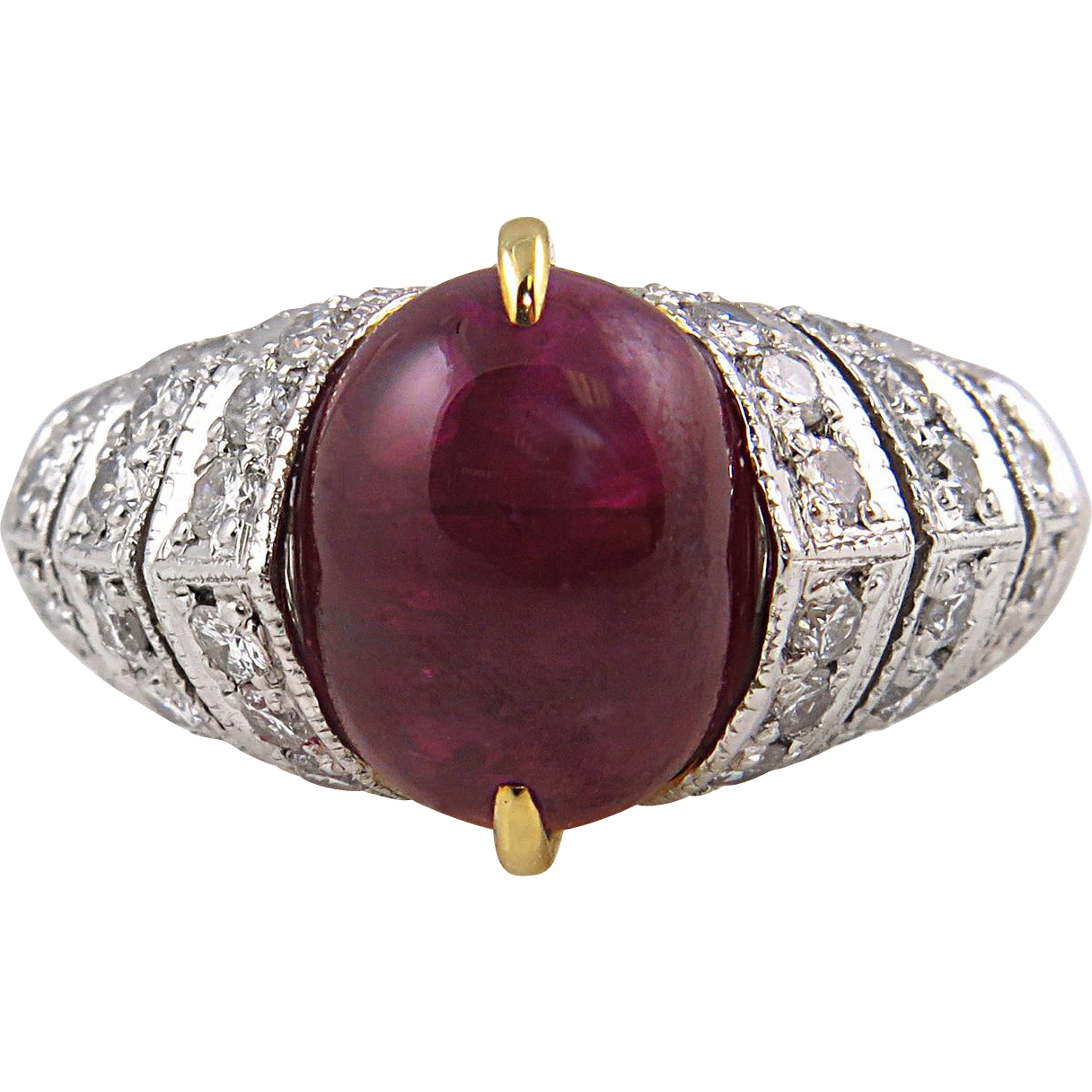 Vintage Gia 5 43ct Natural Pigeon Blood Red Ruby Diamond