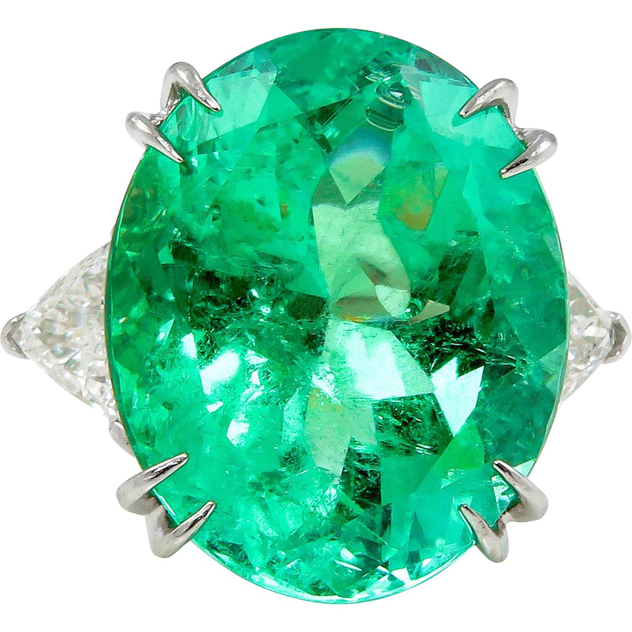 Vintage Gia 18 27ct Colombian Green Emerald Diamond 3