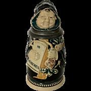 Antique German Figural Character Monk Stein J. Reinemann of Munchen