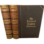 Johnson's The Animal Kingdom Illustrated by S. G. Goodrich 2 Volume Set Pub 1870