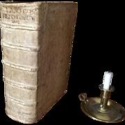 Antique HUGE Scarce 1718 Leatherbound Bible Concordance in German Hebrew Greek Friedrich Lanckisch