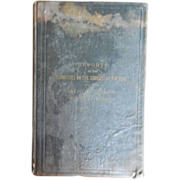1864 Reports of Committee on the Conduct of the War: Fort Pillow Massacre, Returned Prisoners Civil War Book
