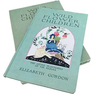 Wild Flower Children Elizabeth Gordon author Janet Laura Scott Illustrator Pub 1918 Rare Beautifully Illustrated Book in Original Box