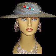 Vintage 1930s Hat . Old Hollywood