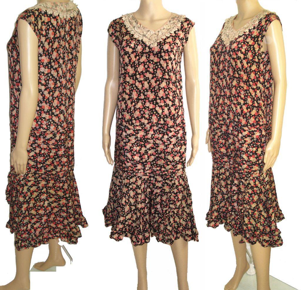 Vintage 1920s Dress . 20s Flapper Dress . Roaring 20s Dress . from ...