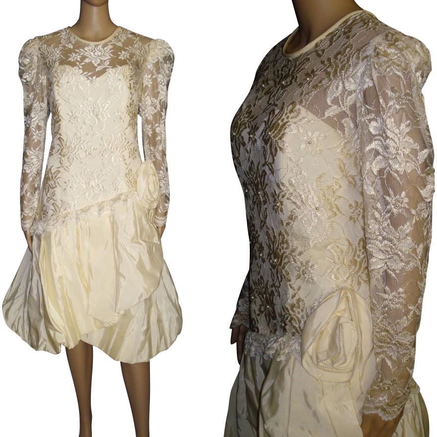vintage 1980s dress designer nancy bracoloni vintage wedding dress from. Black Bedroom Furniture Sets. Home Design Ideas