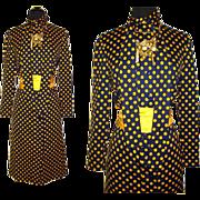 Vintage 1970s Dress . Pauline Trigere . Femme-Fatale Couture Mad Men Pencil Wiggle