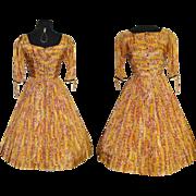 Vintage 1950s Dress . 50s Dress . Mod . New Look . Femme Fatale Garden Party - Full Circle