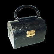 Vintage 1950s purse . 1950s handbag . 1950s Lucite Purse . 50s Plastic Purse