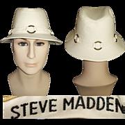 Vintage Fedora Men's Hat . Steve Madden . Fedora Hat .