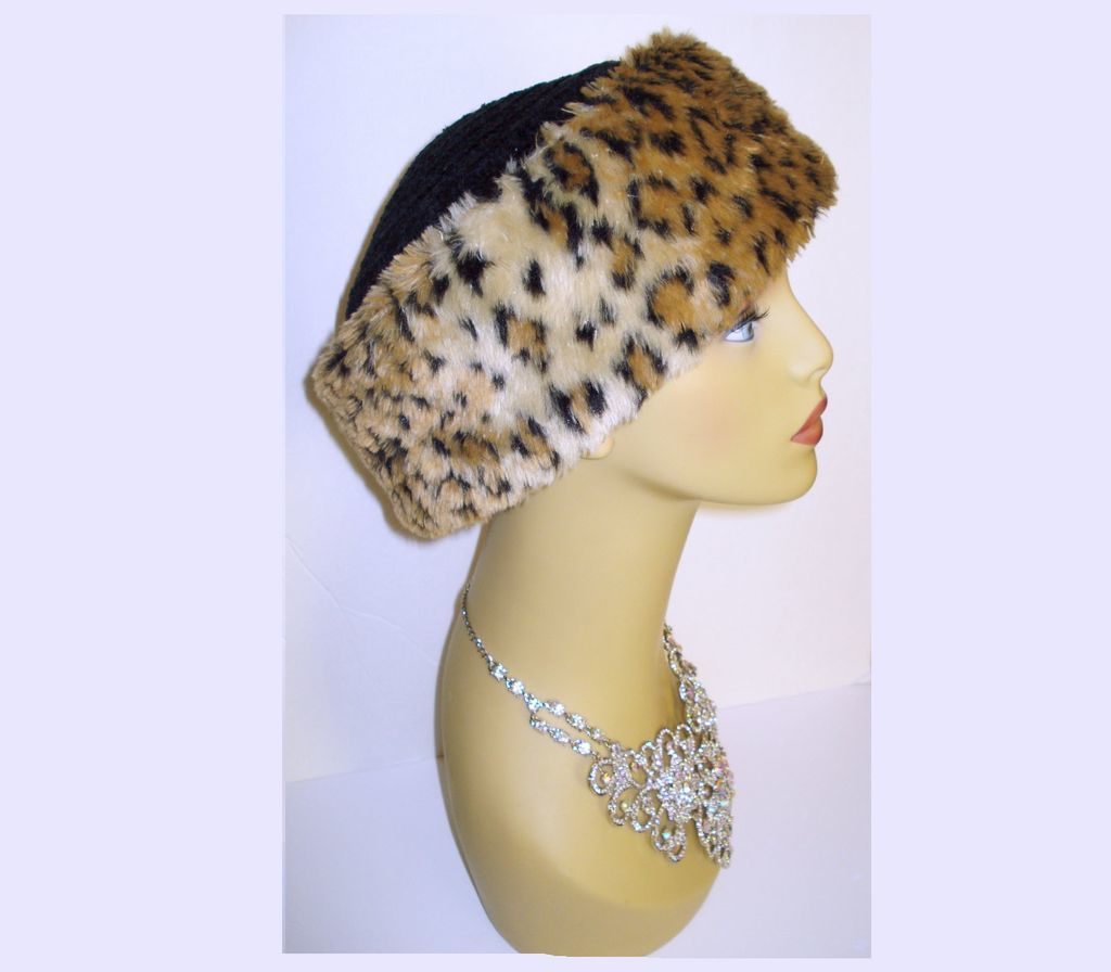 Vintage faux leopard hat betmar new york mad men for 22 river terrace ny ny
