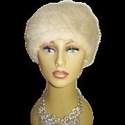 Vintage Mink Hat . Real mink . Designer mink hat