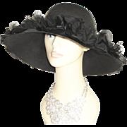 Vintage 1950s Hat . Schiaparelli . High Fashion Hollywood Garden Party Mad Men Rockabilly Garden Party Femme Fatale Couture