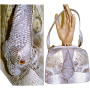 Vintage 1940s purse handbag snake mad men rockabilly