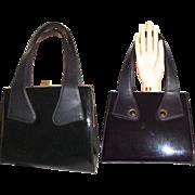 Vintage 1950s Purse Black Handbag tmad men rockabilly swing bombshell pinup garden party dress designer mid century