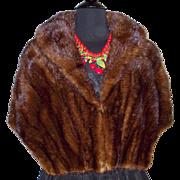 Vintage Mink Stole . Beautiful Sheen . Couture . Mad Man . Rockabilly . Dark Mahoney . Wedding Stole . Coat . Jacket .