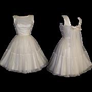 Vintage 1950s Dress - Party . Prom . Wedding . Rockabilly . New Look . Mad Men . Rockabilly . Femme Fatale Pinup