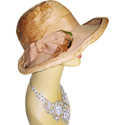 Christian Dior Hat 1960's Designer Hat Chapeaux Paris New York Vintage Ladies Hats