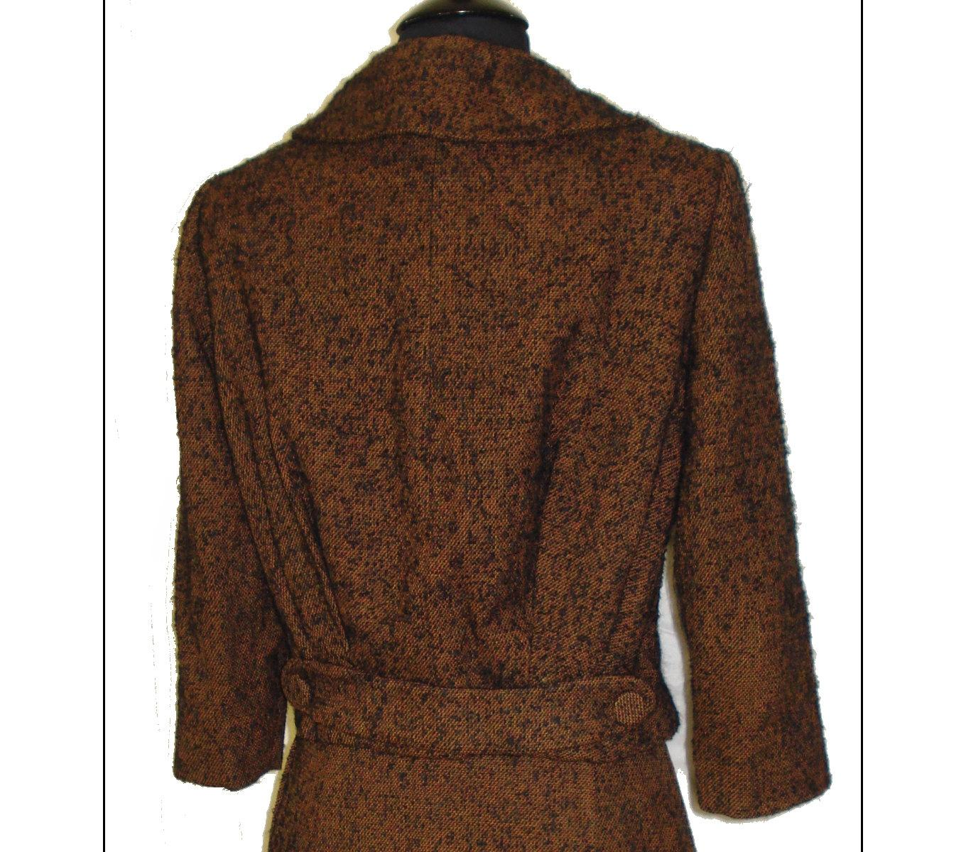 Vintage 1950s suit tweed designer brown couture femme for 41 river terrace new york ny 10282