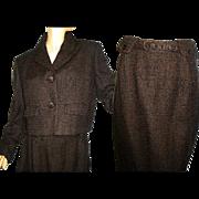 Vintage 1950s Suit . Walda Scott Original Mad Men Femme-Fatale Hourglass Pencil-Wiggle Wedding Career New Look Mod
