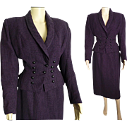 Vintage 1940s Suit // Lilli Ann of San Francisco // WWII-era // Purple//40s suit