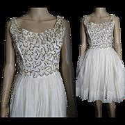 Vintage 1950s Dress . Jonathan Logan . 50s dress - Sequins - Party Dress . Gorgeous .Designer