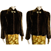 Mouton Jacket//Vintage Mouton Coat //Vintage Mouton Jacket // Real Fur Jacket//Bolero//
