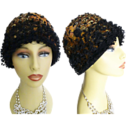 1950s Hat // Feathered Hat//Designer//Fatale// Couture// Mad Man// Garden Party// Rockabilly//New Look