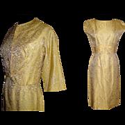 Vintage 1950s Dress . 50 Dress  . Matching Bolero Jacket . Sanford Original . Cocktail Dress . Party Dress .