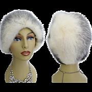 Vintage Mink Hat//Black & White Cross Mink//Gwenn Pennington//Designer mink hat//Couture