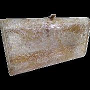 Wilardy Lucite Purse//1950s Lucite Purse//Confetti//Lucite Clutch