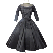 Vintage 1950s Dress//Full Circle Dress//New Look//Cocktail Dress//Party Dress//Dazzling